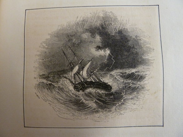 Crusoe's ship tossed at sea