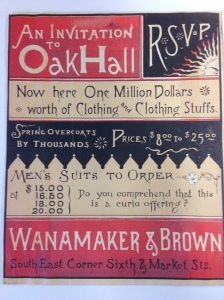 An early Wanamaker's ad.