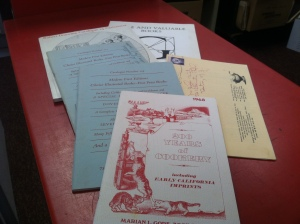 Culinary themed auction and dealer catalogs, 1937-1989