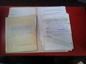 The Best Behavior: Drafts and research notes, circa 1970
