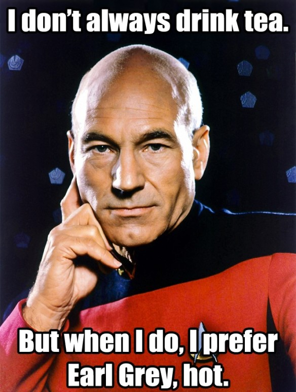 Twenty pounds of tea might even be too much for my dear Captain Picard