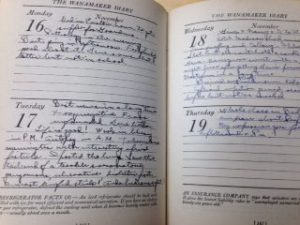 Howard Myers Scull diary
