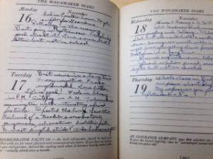 Howard Myers Scull diary