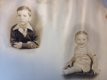 This photograph (circa 1948) shows the Teacher brothers with Larry on the left and Stuart on the right.