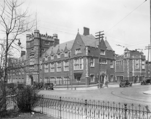 An early photograph of the University of Pennsylvania School of Dental Medicine.