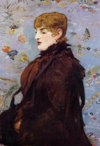 An 1882 portrait of Madame Laurent, by Edouard Manet.