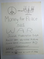 Flyer for Concerned Jewish Students / Combined Jewish Philanthropies