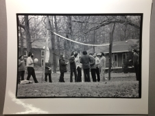 Volleyball with a Havurah community during a retreat, by photographer Bill Aron