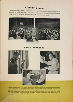 Delco-Remy victory revue and radio programs (box 1, folder 7)