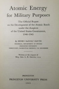 Title leaf of the Smyth Report (Princeton: Princeton University Press, 1945)
