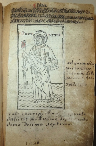 Title leaf of the Penn Libraries copy of the octavo Bible printed by Geronimo Paganini (Venice, 1497)