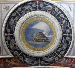Emblem of Cosimo de' Medici (Fresco by Lorenzo Sabatini, Palazzo Vecchio, Florence)