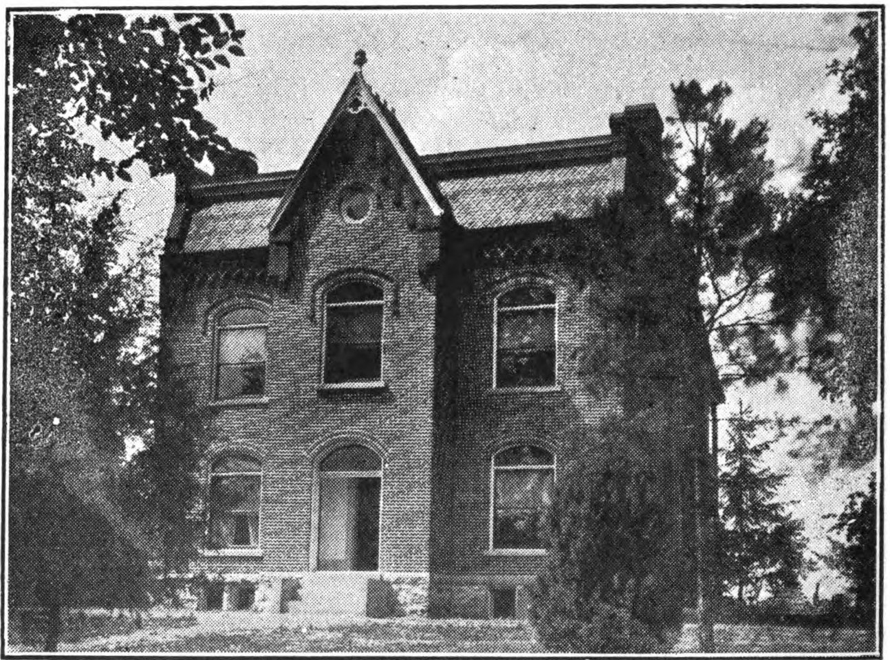 """Rectory of St. Michael parish, Fredericktown, Mo., 1901, where John Rothensteiner built a library that required a boxcar to move. From John Rothensteiner, """"Chronicles of an Old Missouri Parish,"""" p. 54."""