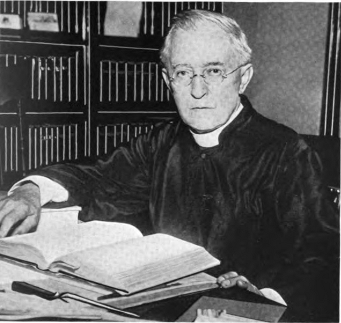 """Fr. John Rothensteiner (1860-1936; photograph of Sister Mary Callista Campion, BVM). From F. Bruns, """"John Rothensteiner,"""" The American-German Review 4.4 (1938), p. 24."""